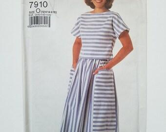 1980's Simplicity 7910 two-piece dress pattern