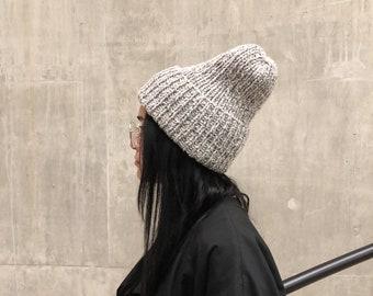 Black & Beige Soft Blend Beanie Hat