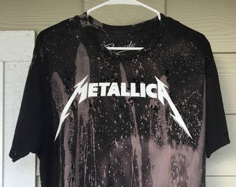 Metallica - Hand Bleached // Hand Thrashed // Vintage Inspired // Custom Band T-Shirt