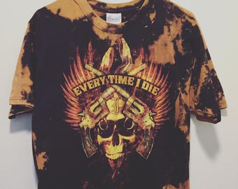 Every Time I Die - Hand Bleached // Hand Thrashed // Vintage Inspired // Custom Band T-Shirt