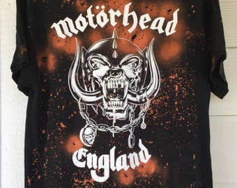 Motorhead - Hand Bleached // Hand Thrashed // Vintage Inspired // Custom T-Shirt