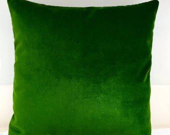 green velvet pillow. Green Velvet Throw Pillows, Pillow Cover, Designer Pillow, Decorative Cushion, Pillows N