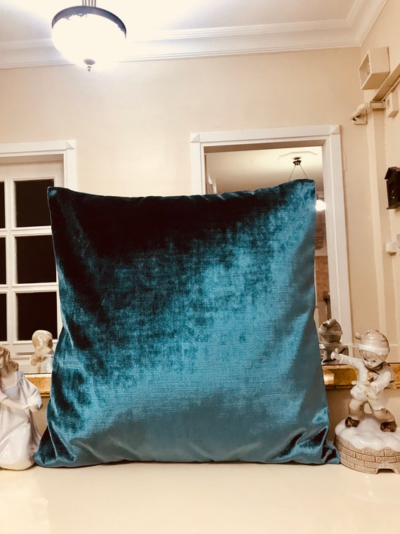 Astounding Bright Teal Blue Velvet Throw Pillows Velvet Pillow Cover Blue Pillows Designer Pillow Decorative Pillows Velvet Cushion Blue Pillows Theyellowbook Wood Chair Design Ideas Theyellowbookinfo