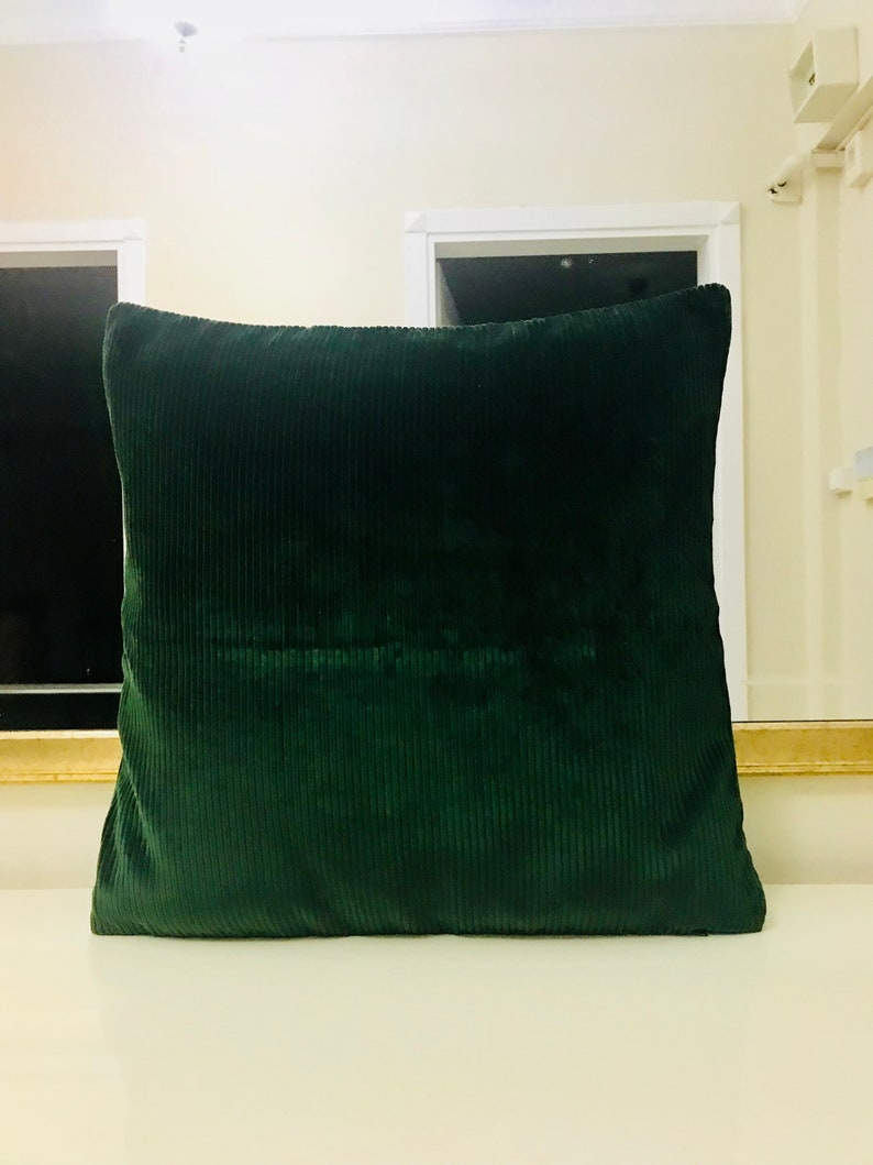 Dark Green Velvet Throw Pillows Velvet Pillow Cover Green Pillows Designer Pillow Decorative Pillows Velvet Cushion Dark Green Pillows