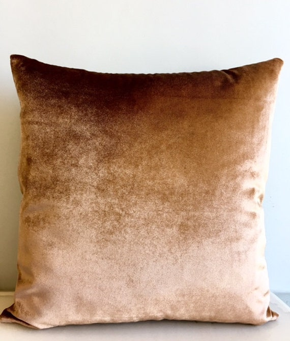 Bronze Velvet Throw Pillows Velvet Pillow CoverBronze Etsy Fascinating Bronze Decorative Pillows