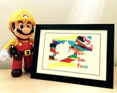 "Print A5 ""Super Mario Marker"" (fan'art super mario maker - WiiU, 3DS)"