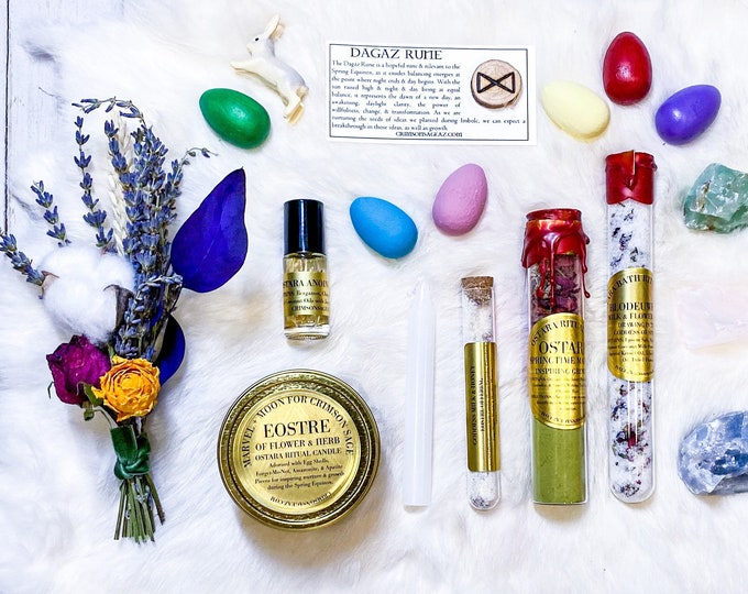 Featured listing image: Ostara/Spring Equinox Altar & Rituals Curios Set MADE TO ORDER