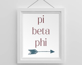 50371c315405e Pi beta phi arrow | Etsy