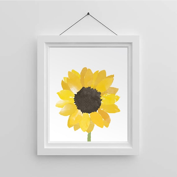 photo regarding Printable Sunflower identified as Summer time Printable - Sunflower Watercolor Watercolor Wall Artwork Sunflower Residence Decor Flower Wall Artwork Summertime Decor Fast Obtain