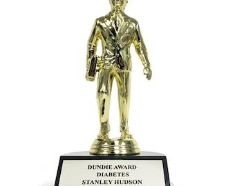 Stanley Hudson Diabetes Dundie Award Trophy The Office TV Show Michael Scott Dunder Mifflin Inc Dundies Prop Dundee Dundees Dundy Gift Idea