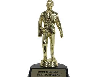Best Boyfriend Dundie Award Trophy The Office TV Show Michael Scott Dunder Mifflin Dundies Dundee Dundees Dundy Dating Birthday Gift Idea