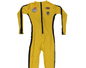 The Bride Deluxe Costume Kill Bill Movie Cosplay Spandex Beatrix Suit Stripe With Patches 2 Black Mamba Fancy Dress Halloween High Quality