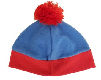 44eadafd5e958 Stan Marsh Hat South Park Costume Cosplay TV Show Beanie Cap Halloween  Fancy Dress Prop Cartoon Character Winter Pom Gift Blue Red
