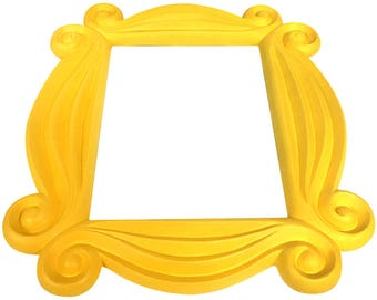High Quality Friends Frame Yellow Peephole Door Prop F R I E N D S TV Show Gift Idea  Monica Geller Apartment Hanging Picture Wall Best High Quality