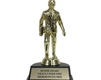 Meredith Palmer Grace Under Fire Dundie Award Trophy The Office TV Show Michael Scott Dunder Mifflin Dundies Prop Dundee Dundees Gift Idea