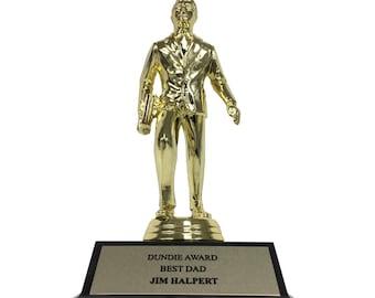 Jim Halpert Best Dad Dundie Award Trophy The Office TV Show Michael Scott Dunder Mifflin Dundies Dundee Dundees Dundy Father's Day Gift Idea