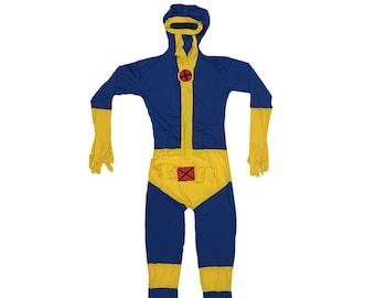 719d1e736f6c Cyclops Costume Cosplay Spandex X-Men Comic Book Version Movie Original  Superhero Suit Scott Summers Halloween Super Hero High Quality