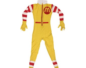 Ronald McDonald Costume Cosplay Spandex McDonald's Fancy Dress Halloween Adult Men's Clown Suit Outfit MacDonald Gift High Quality