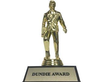 Dundie Award Trophy The Office TV Show Michael Scott Dunder Mifflin Paper Company Dundies Gift Idea Fan Costume Prop Dundee Dundees Dundy