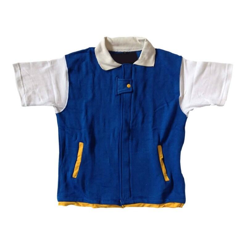 Pokemon Kids Jacket Ash Ketchum Costume Shirt Cosplay Child image 0