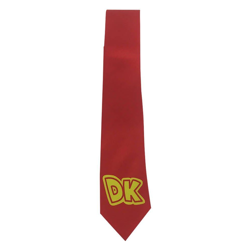 dk necktie donkey kong tie costume prop cosplay logo neck tie | etsy