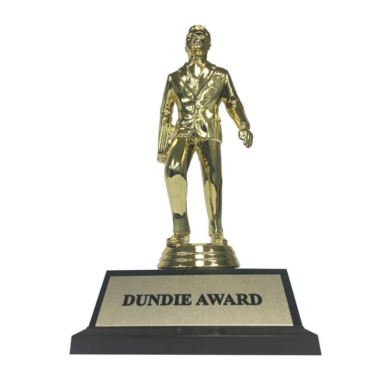 Dundie Award Trophy The Office TV Show Michael Scott Dunder image 0
