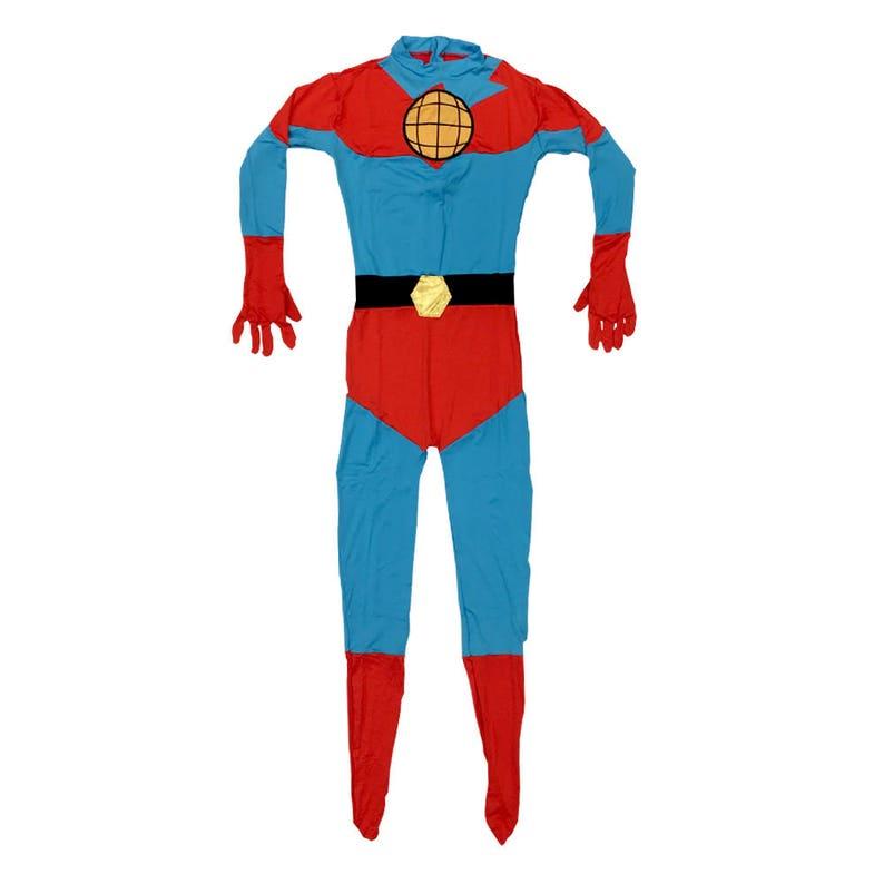 Mens White Captain Super Hero Zip Costume Dress Boots