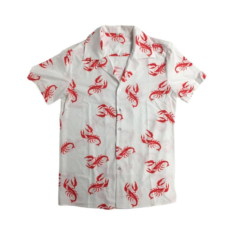 470978a498e610 Lobster Shirt Kramer Seinfeld TV Show Costume Button Down Up