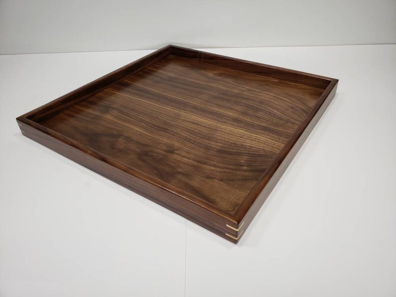 Swell 18X18 Walnut Wood Square Ottoman Tray Serving Tray Uwap Interior Chair Design Uwaporg