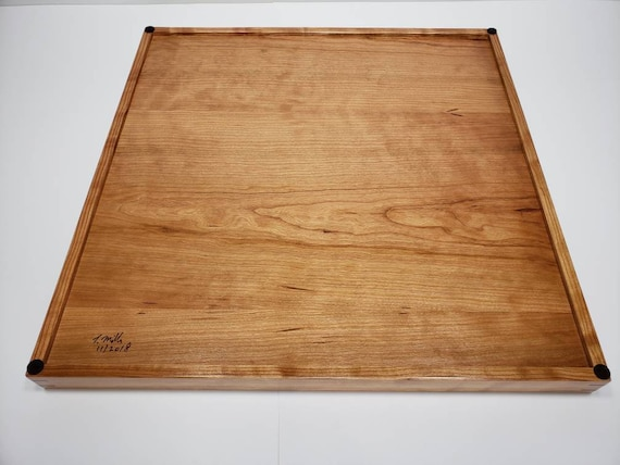 Fantastic 20X20 Cherry Wood Square Ottoman Tray Serving Tray Dailytribune Chair Design For Home Dailytribuneorg