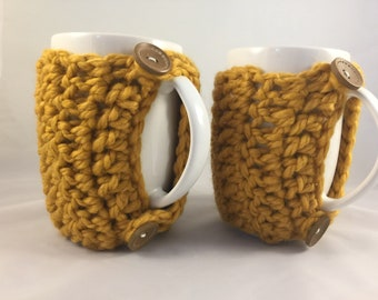 Pair of Large Coffee Cup Cozies  (Mugs included)