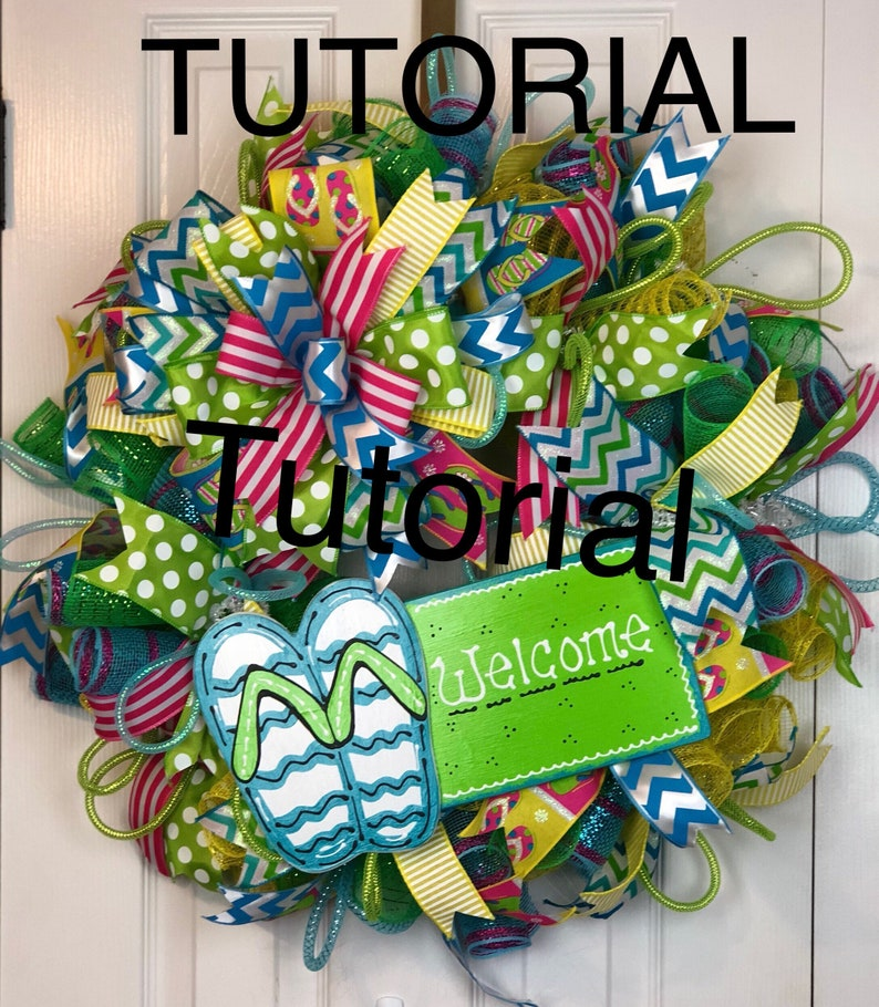 097239522ef54 Flip flop wreath tutorial wreath tutorial summer wreath