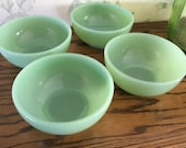 Jadeite Fire King Cereal Chili Bowls 5 inch all 4