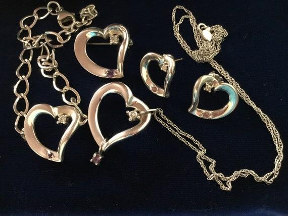 LENOX HEART SET, Lenox Heart Earrings, Lenox Heart