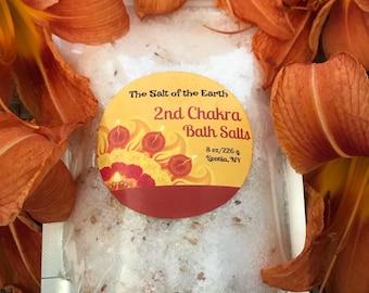 Sacral Chakra Bath Salts - 2nd Chakra Bath Salts - Chakra Bath Soak - Energy Cleansing Bath Salts - Ritual Bath Salt - Bath Soak