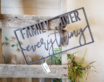 Family Over Everything   Wall Decor   Gallery Wall Decor   Farmhouse Decor   Wall Art   Wood Sign   Family Sign   Mother's Day Gift