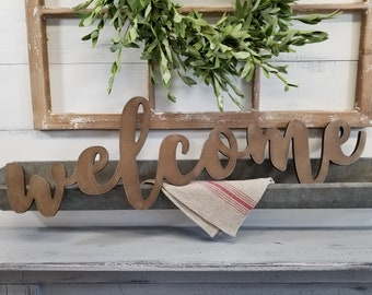 Welcome Sign   Housewarming Sign   Welcome   Welcome Cutout   Wood Sign   Farmhouse Decor