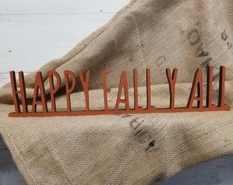 Fall Decor | Farmhouse Fall Sign | Autumn Decor | Happy Fall Y All | Happy Fall Sign | Autumn Sign | Fall Favorites