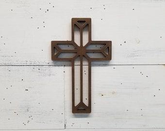 Religious Decor | Cross | Spiritual Decor | Geometric Cross | Wooden Cross