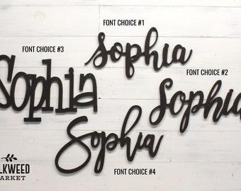 Custom Word or Name Cutout Sign Script Word Sign Custom Name Custom Cutout
