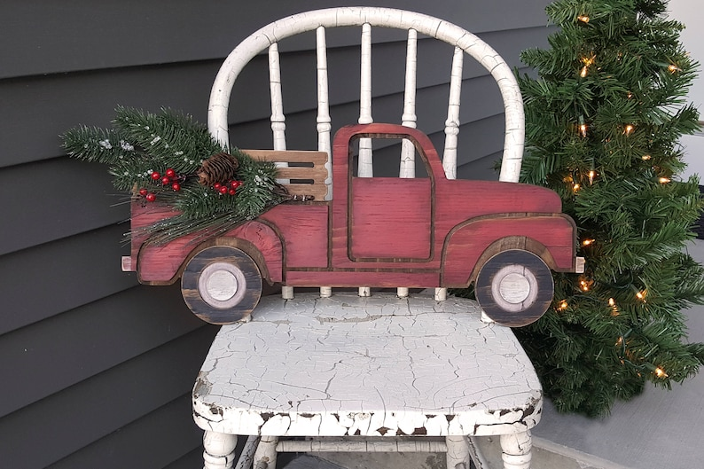 Vintage Pick-up Truck Cutout Sign image 0