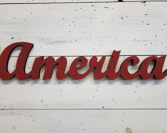 America Sign | Patriotic Decor | Americana Decor | Memorial Decor | 4th of July Decor | Labor Day Decor