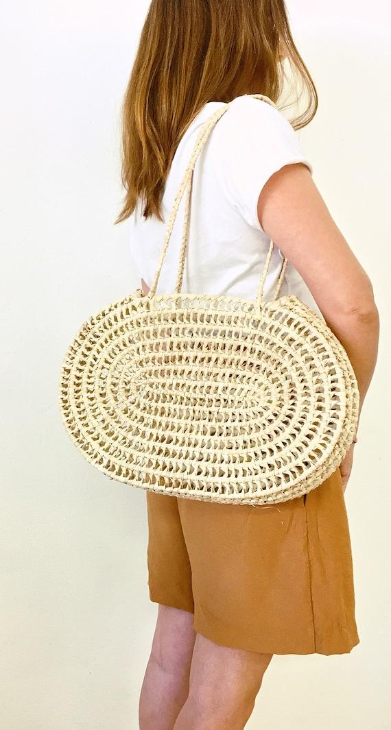 runder Korb. Straw round basket sac palme rond market bag panier rond home decoration basket straw round bag storage basket