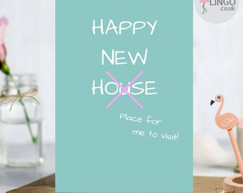 Custom new home card etsy funny new home greeting card house move moving congratulations housewarming personalised message by flamingo lingo h15 m4hsunfo