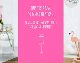 Yoga Birthday Cards Etsy