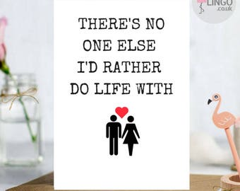 Funny Rude Anniversary Greeting Card   First   Wife Husband Girlfriend Boyfriend   Greetings card Personalised   By Flamingo Lingo (L32)