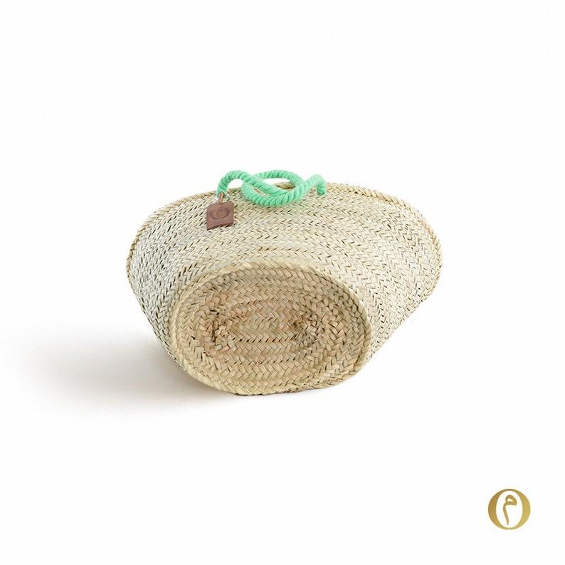 blank without writing Basket Medium Original Marrakech Nature handles Original light green Basket