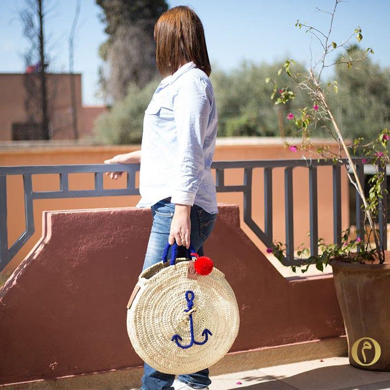 Large Basket round Original Marrakech Anchor