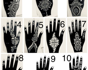 graphic about Printable Henna Stencils named Henna stencil Etsy