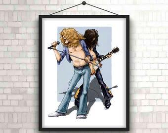 Led Zeppelin, art print, illustration